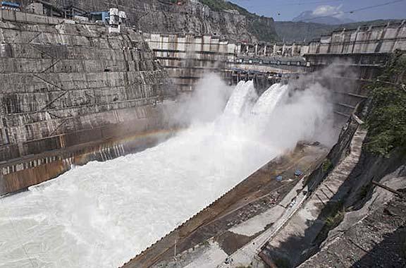 Xiluodu Hydropower Plant.