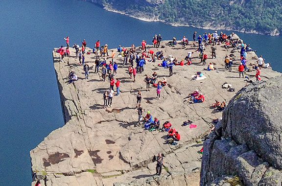 Photo of Preikestolen, aka Pulpit Rock.