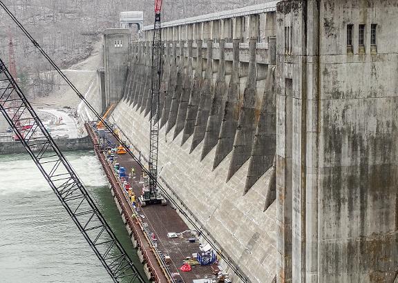 Bluestone Dam.